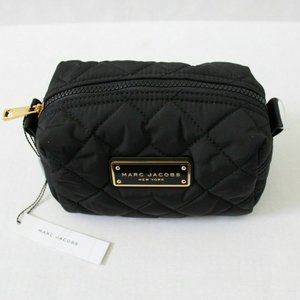Marc Jacobs Quilted Nylon Zip Cosmetic Pouch Black